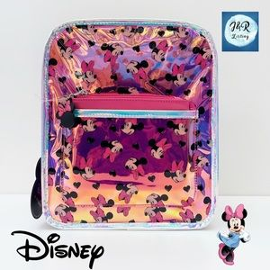 Disney Holographic Minnie Mouse Backpack/Purse Set